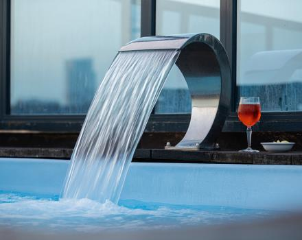 Sip a drink in the rooftop jacuzzi at BW Plus Executive Hotel Torino