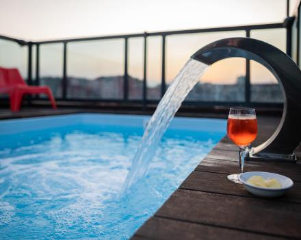 What better to ask for than a tramoto on the rooftop of a 4-star hotel with jacuzzi?