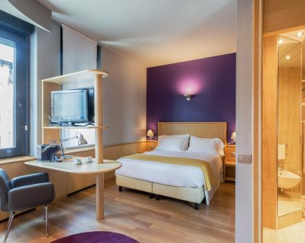 The modern spaces of our 4-star hotel in central Turin