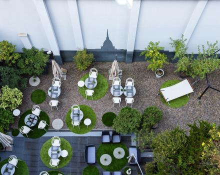 At the BW Plus Executive Hotel in Turin you can enjoy breakfast outdoors