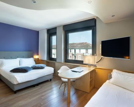 all the space you need in your hotel in central Turin