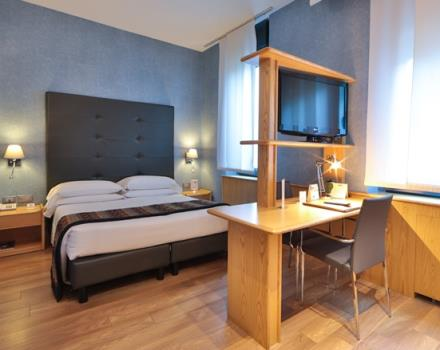 Discover our Classic rooms! Very large, wooden floors and the best technology ready to welcome you! At 5 minutes from Porta Nuova station and 5 minutes by subway from ingot! Best Western Plus Executive Hotel and Suites