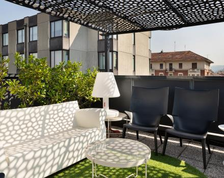Relax on the rooftop of the BW Plus Executive Hotel and Suites Torino