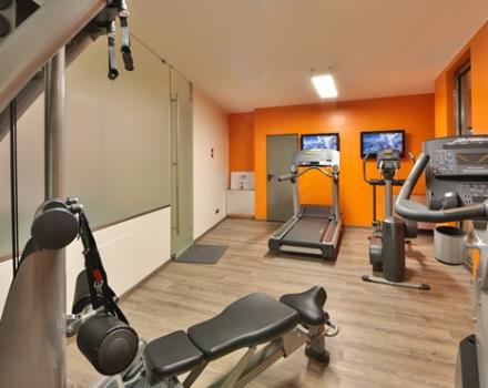 Designed to keep you in shape after a long day of work, we offer free 24 hours out of 24 our gym with Life Fitness tools of last generation!