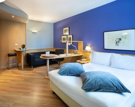 Book the large deluxe rooms of our hotel in downtown Turin