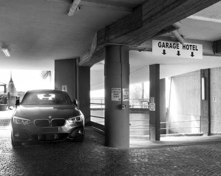 Park your car in the garage of the BW Plus Executive Hotel and Suites in Turin