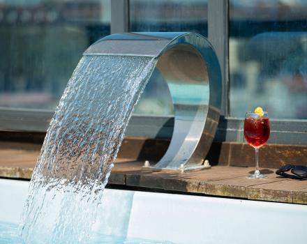 Refresh inside the hot tub and whirlpool in the rooftop of our hotel in Turin