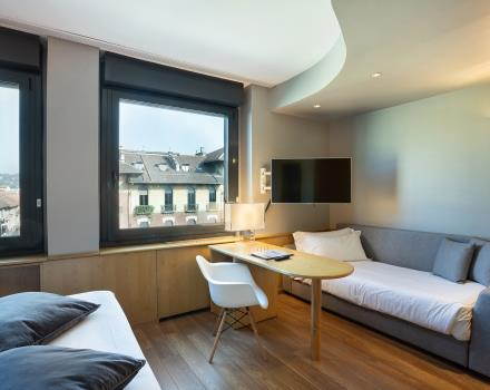 Comfortable and spacious triple rooms in Turin: BW Plus Executive Hotel and Suites