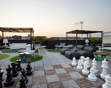 Style and design on the rooftop of our 4-star hotel
